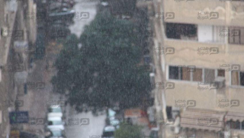 بالصور| أمطار غزيرة بالقاهرة والجيزة