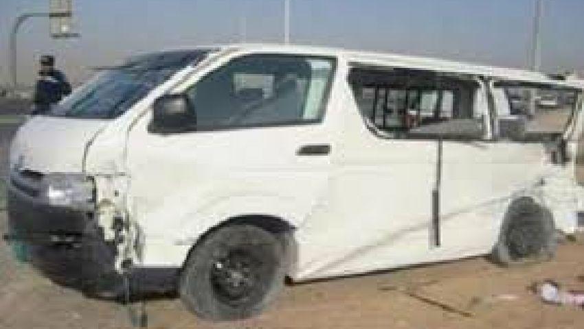مصرع 3 وإصابة 8 في حادث مروري بقنا