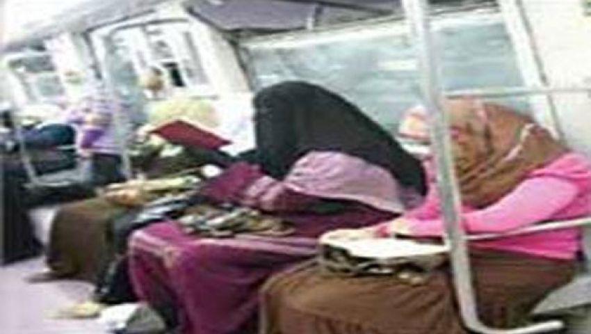 اشتباكات بعربة السيدات بمترو الأنفاق بين مؤيدات ومعارضات مرسي