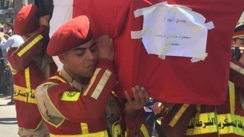 بالصور| تشييع جثمان ضحية تفجير سيناء في مسقط رأسه ببورسعيد