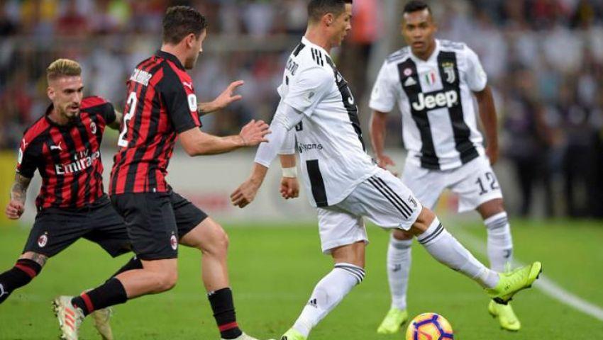 يوفنتوس vs ميلان.. المواعيد والقنوات الناقلة لمباريات اليوم الخميس