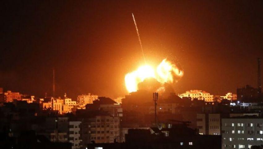 فيديو  سلسلة غارات إسرائيلية على «غزة».. وإصابة 3 فلسطينيين