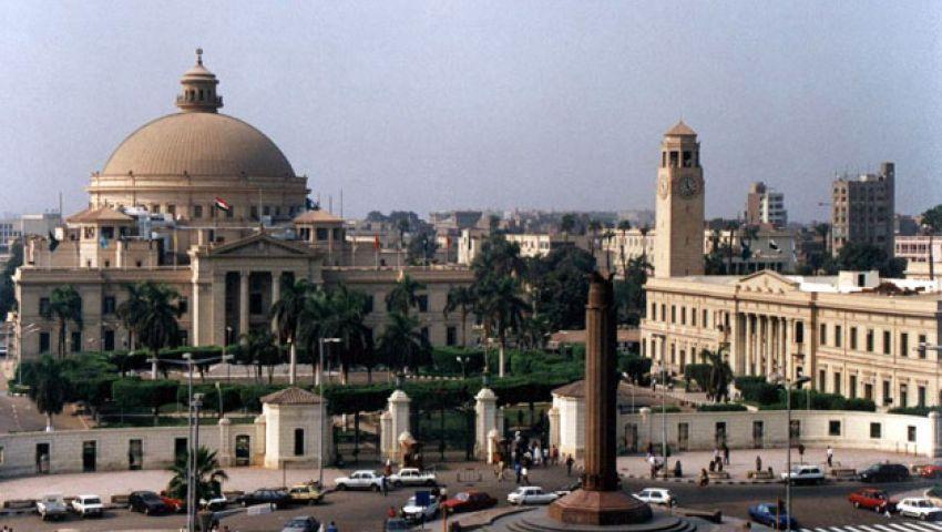 الأمن يخلي جامعة القاهرة .. وتحليق مكثف لطائرات الجيش