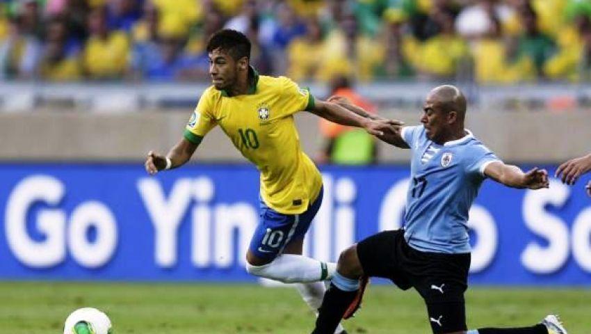 فيديو..البرازيل تخطف أوروجواي بثنائية وتتأهل لنهائى القارات