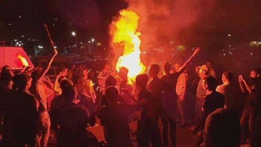 بالصور.. عشرات المحتجين يتظاهرون بميدان رمسيس