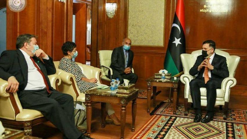 فيديو| كواليس لقاء وزيرة خارجية إسبانيا بحكومة الوفاق الليبية