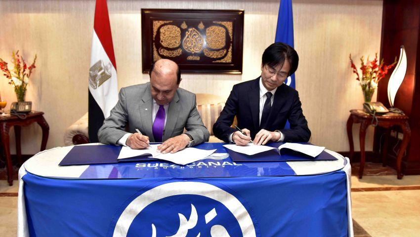 مميش يوقع اتفاقية مع ميتسوبيشي لتطوير ترسانة بورسعيد