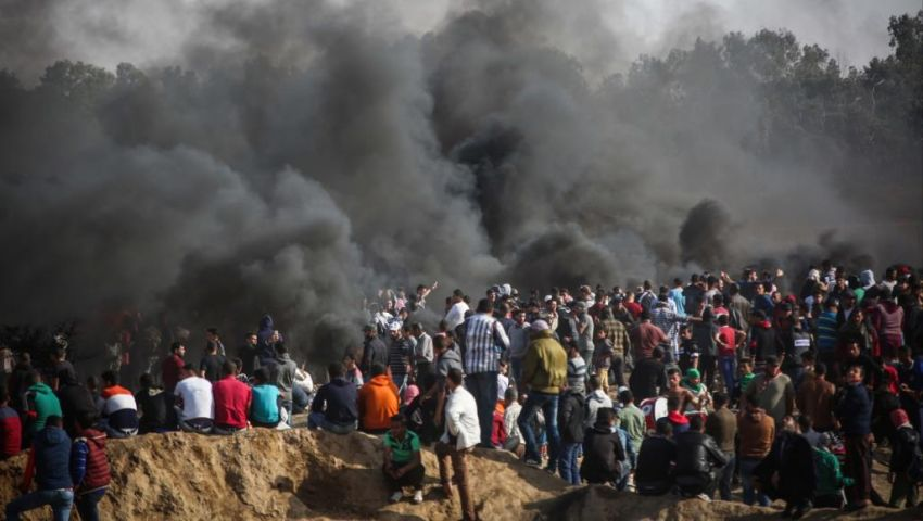 في مليونية «الأرض والعودة».. جرح فلسطين ينزف