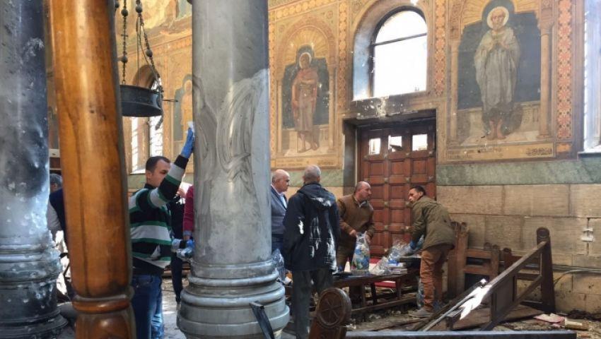 13 قتيلا و48 مصابًا في حادث تفجير كنيسة مارجرجس بطنطا