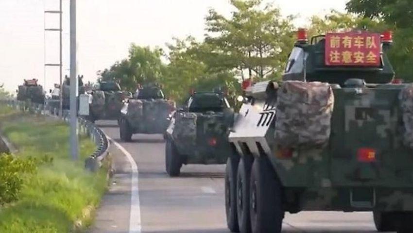 قلق أمريكي من «تحركات عسكرية صينية» على حدودهونغ كونغ