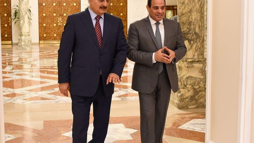تفاصيل لقاء السيسي وعقيلة صالح وخليفة حفتر بقصر الاتحادية