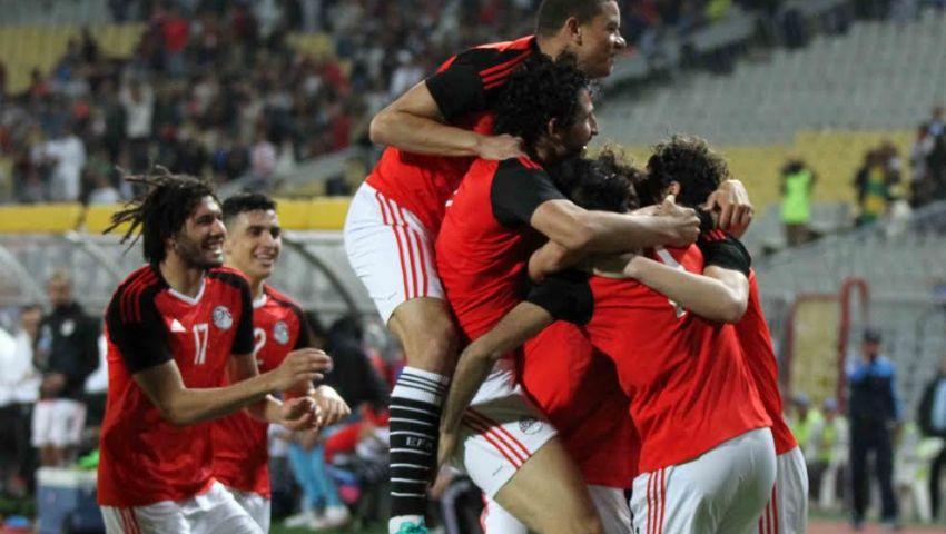 إنفوجراف  أرقام مباراة مصر وتوجو