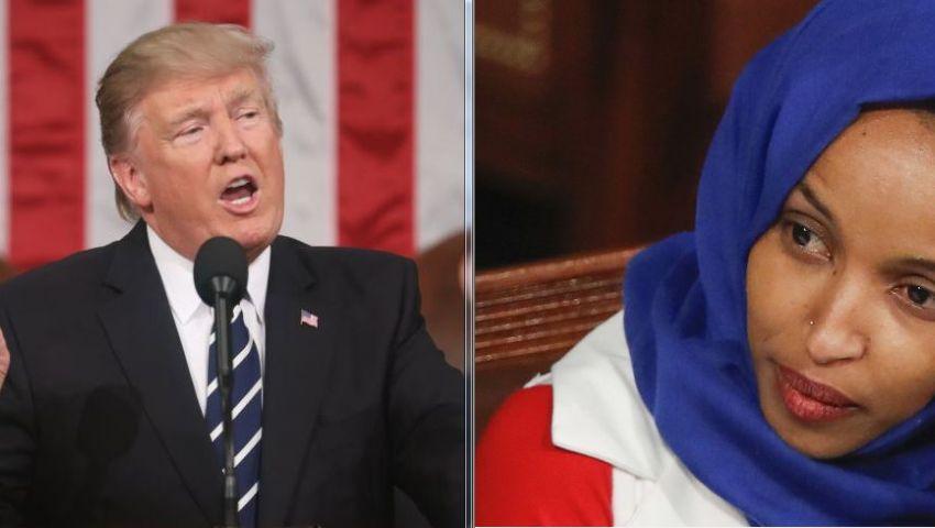 ترامب يصعّد هجومه على إلهان عمر.. لما اعتبر اعتذارها «أعرج» وبماذا طالبها؟