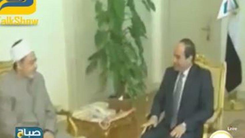 فيديو.. السيسي يطالب الأزهر بمواصلة تجديد الخطاب الديني