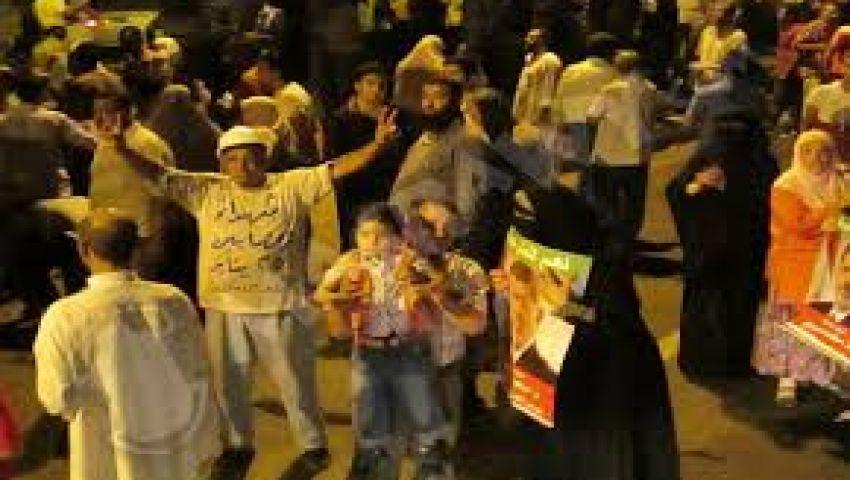 مسيرة حاشدة لأنصار مرسي من الجيزة للمحكمة الدستورية