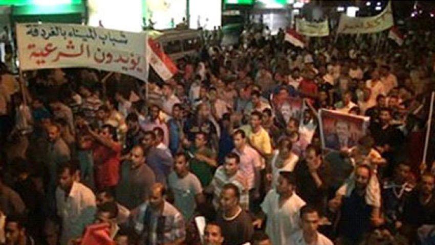 مسيرة حاشدة للإسلاميين بالغردقة