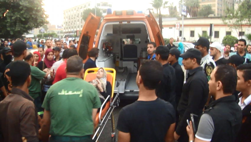 النيابة تستمع لأقوال 5 مصابين في تفجير جامعة القاهرة