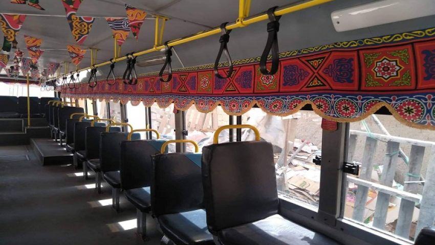 صور| زينة وخيامية.. رمضان أحلى مع أتوبيسات النقل العام بالإسكندرية