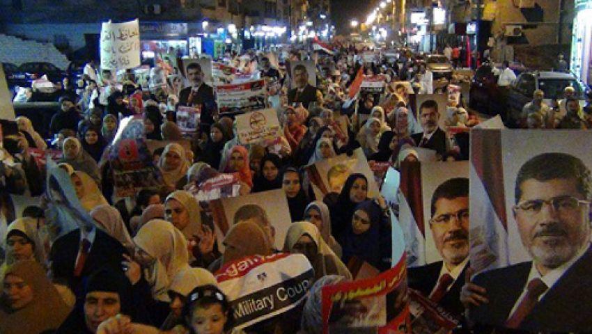 مسيرتان لأنصار مرسي بـالكونيسة والحوامدية