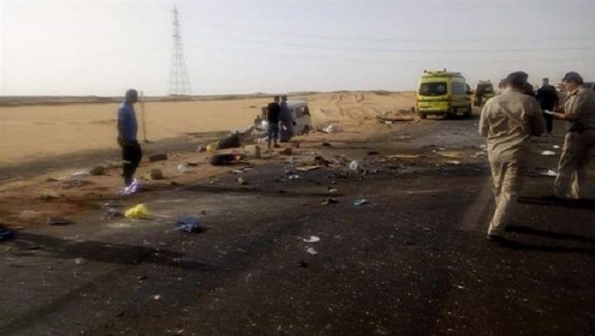 مصرع وإصابة 20 شخصاً في حادث بالطريق الصحراوي بأسوان