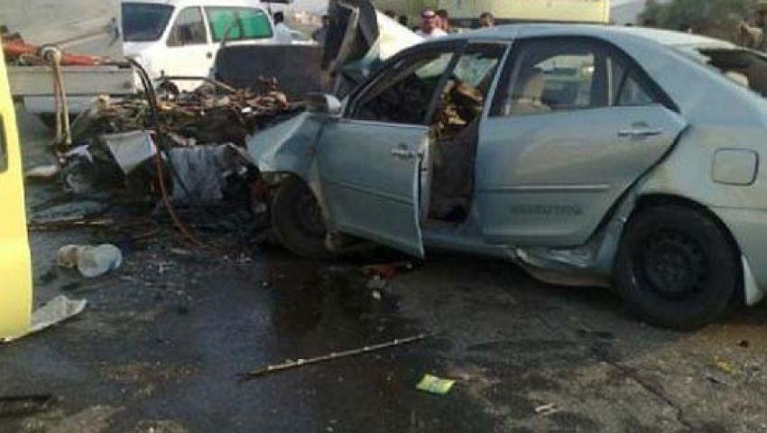 مصرع وإصابة 3 في حادث تصادم بأسيوط