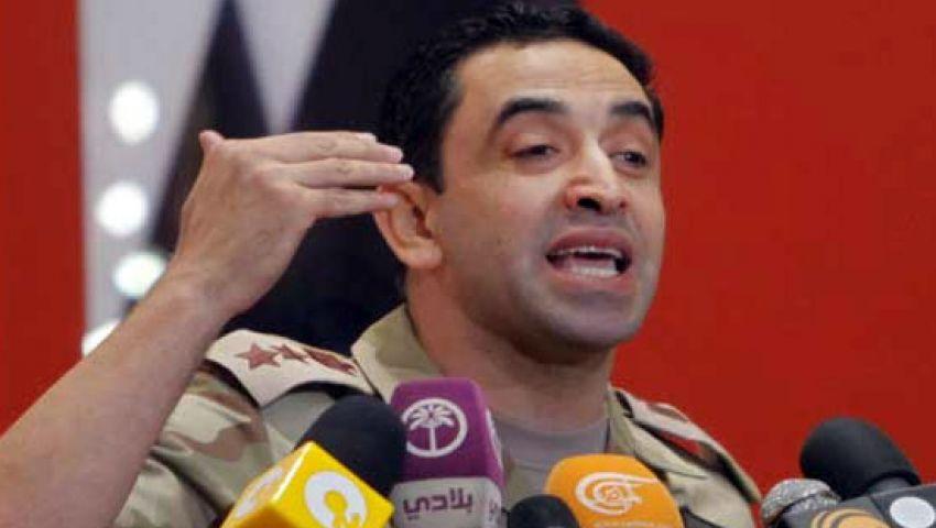 المتحدث العسكري ينفي حبس مرسي 15 يومًا