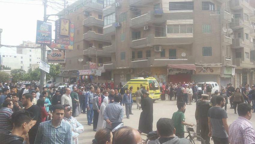 شاهد.. الصور الأولى من موقع تفجير كنيسة مارجرجس بطنطا