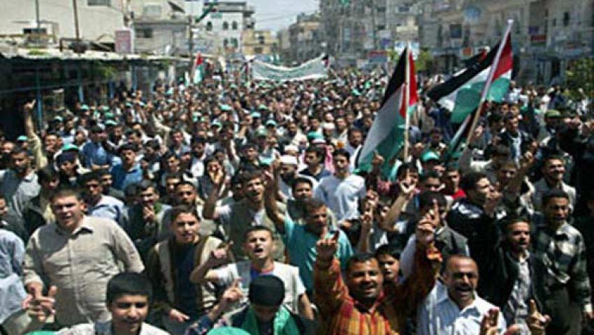 مظاهرات بغزة لوقف مجازر عسكر مصر