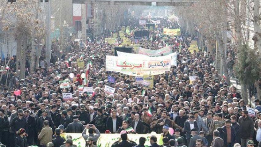 تحت شعار الموت لأمريكا.. انطلاق مسيرات ذكرى الثورة الإسلامية الإيرانية