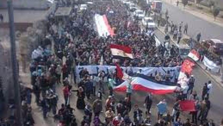 مجهولون يحاصرون متظاهري النهضة بالسلاح