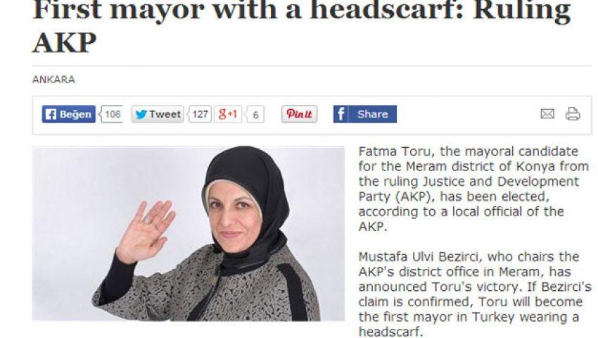 فاطمة تورو.. أول رئيسة بلدية محجبة في تركيا