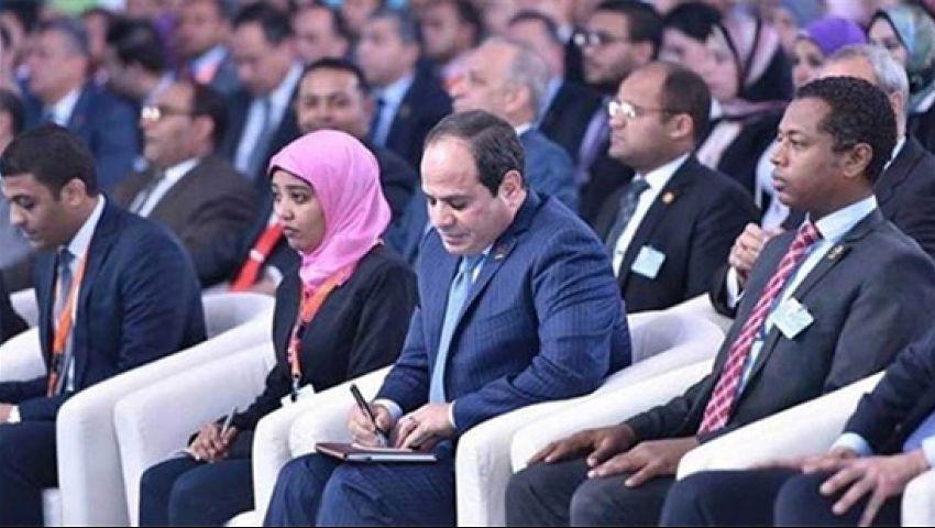 فيديو| مؤتمر الشباب.. يبدأ بـ«مواجهة الإرهاب وشائعات السوشيال» وينتهي بـ «اسأل الرئيس»