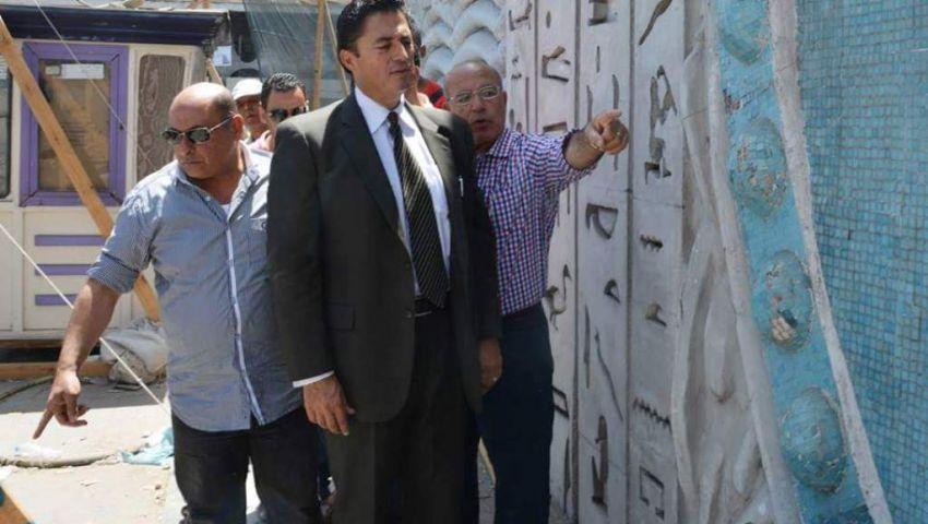 بالصور| ترميم أطول جدارية فى الإسكندرية بتكلفة 350 ألف جنيه