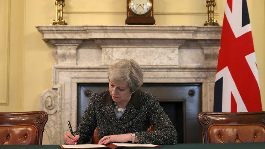 ماي توقع على خطاب خروج بريطانيا من الاتحاد الأوروبي