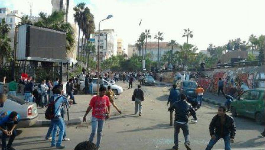 إصابة 4 من رجال الشرطة بالإسكندرية