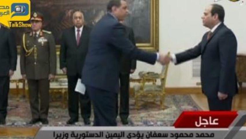 بالفيديو..الوزراء الجدد يؤدون القسم أمام السيسي