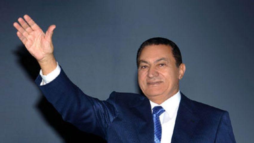 مبارك يغادر السجن إلى المعادي العسكري تحت الإقامة الجبرية