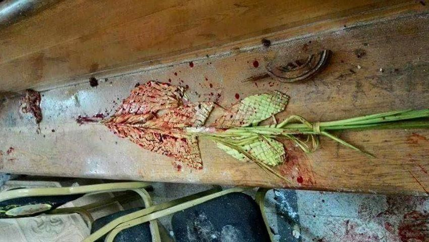 مصدر أمني: انفجار كنيسة مارجرجس بواسطة عبوة  زُرعت أسفل منصة  الواعظ