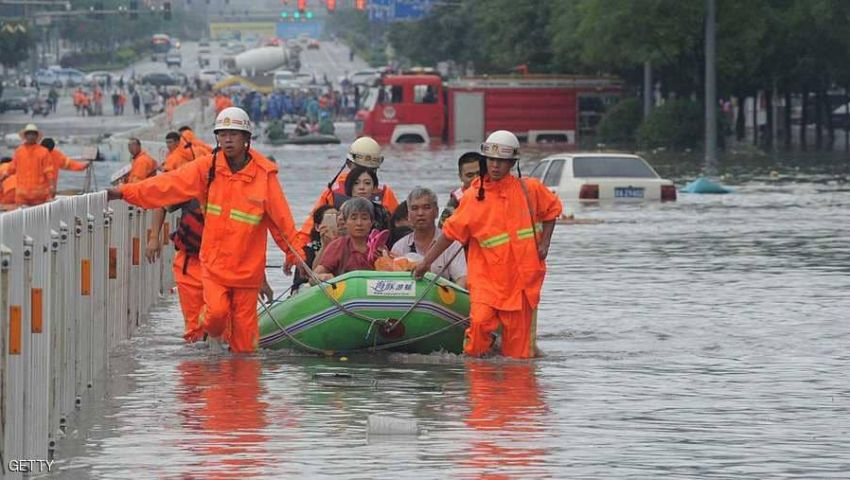 بخسائر 21 مليار دولار.. فيضانات الصين تتسبب في مصرع 61 شخصًا