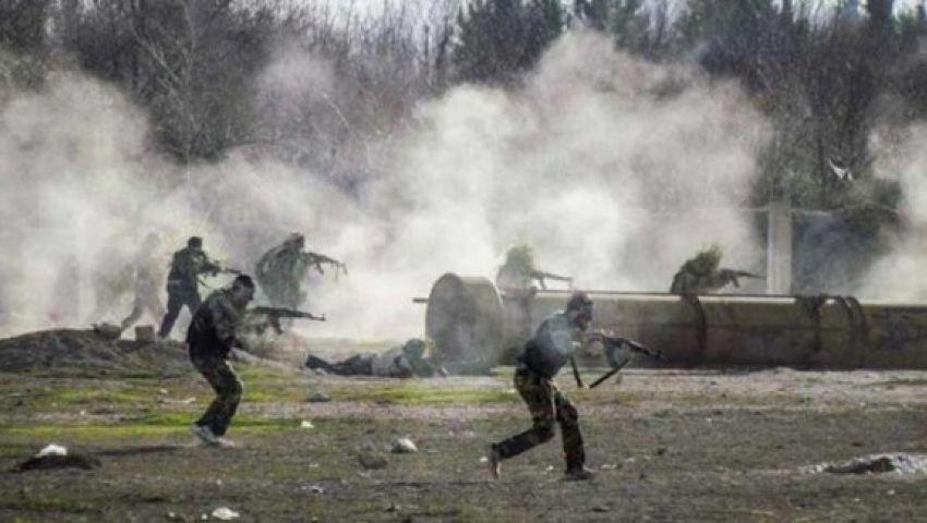 شاهد.. اشتباكات عنيفة بين الجيش السوري ومسلحين في قمحانة