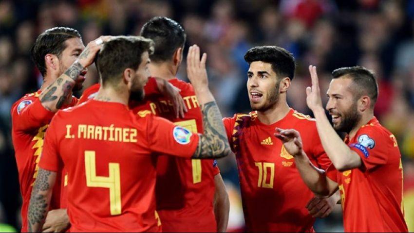 تصفيات يورو 2020.. إسبانيا تحقق الانتصار الثالث على التوالي