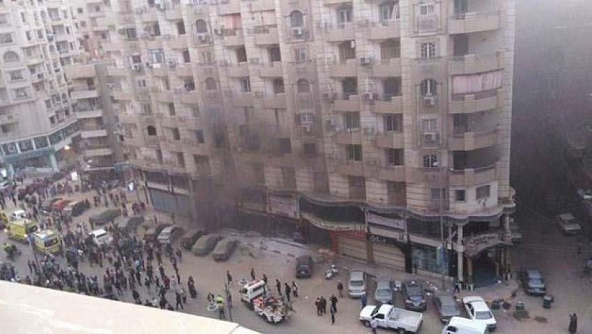 بالصور| حريق هائل في الفيوم وإصابة 20 شخصًا