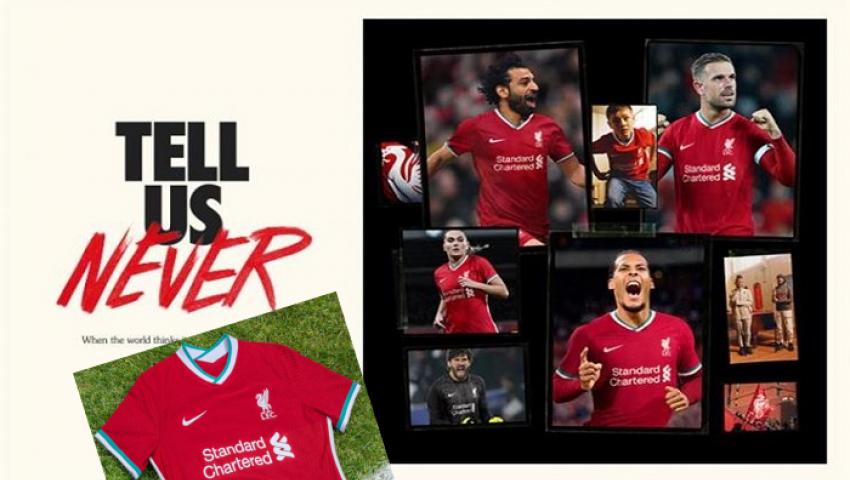 صور| محمد صلاح يتألق في قميص ليفربول الجديد لموسم (2020-21)