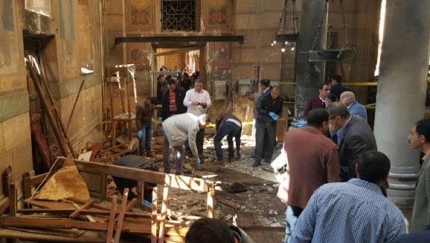 ارتفاع حصيلة ضحايا تفجير الكنيسة المرقسية لـ 19 شهيدًا