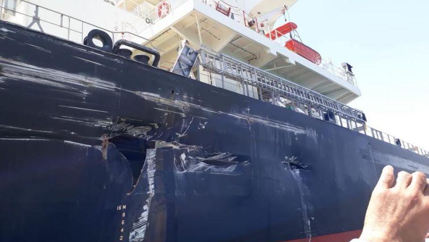 بالصور| تفاصيل تصادم 5 سفن في قناة السويس