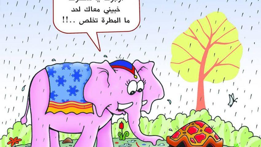 «الحيوانات المرحة».. 35 كاريكاتيرا للفنان فوزي مرسي