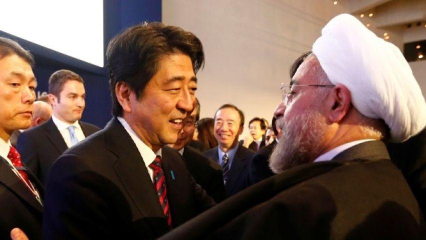 أول لقاء يجمع بين روحاني ورئيس وزراء ياباني منذ عقود
