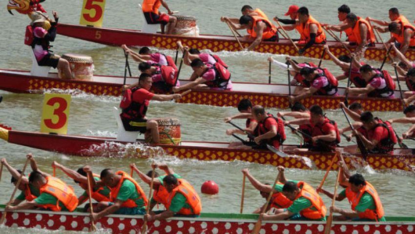 هونج كونج.. انطلاق سباق قوارب التنين السنوى