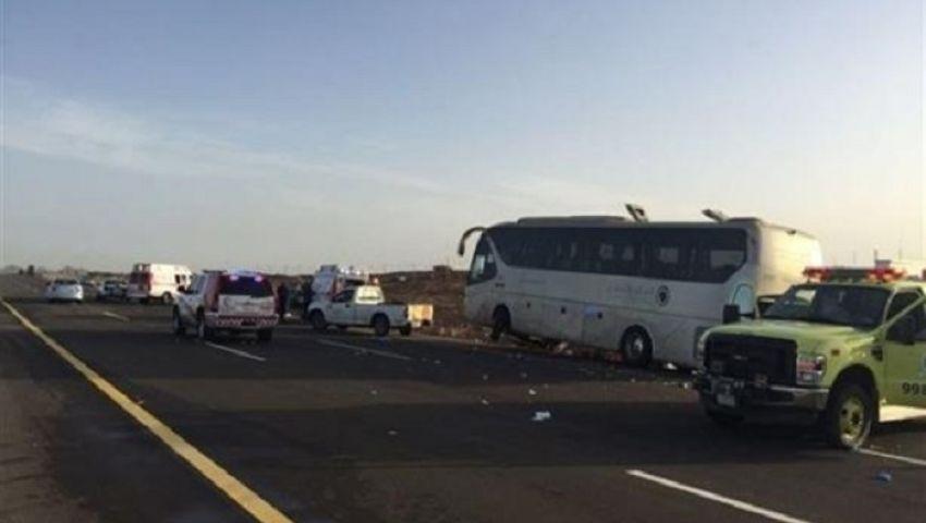 في حادث مروع.. وفاة أكثر من 30 معتمرًا على طريق الهجرة بالسعودية