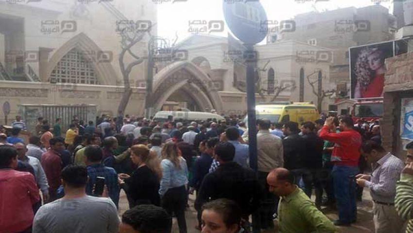 الصحة: 13 قتيلاً و25 مصابًا في انفجار كنيسة مارجرجس بطنطا